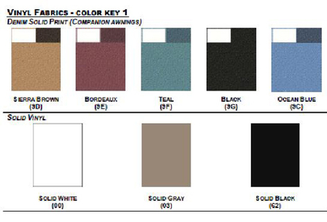 Carefree Custom Acrylic Fabric Colors